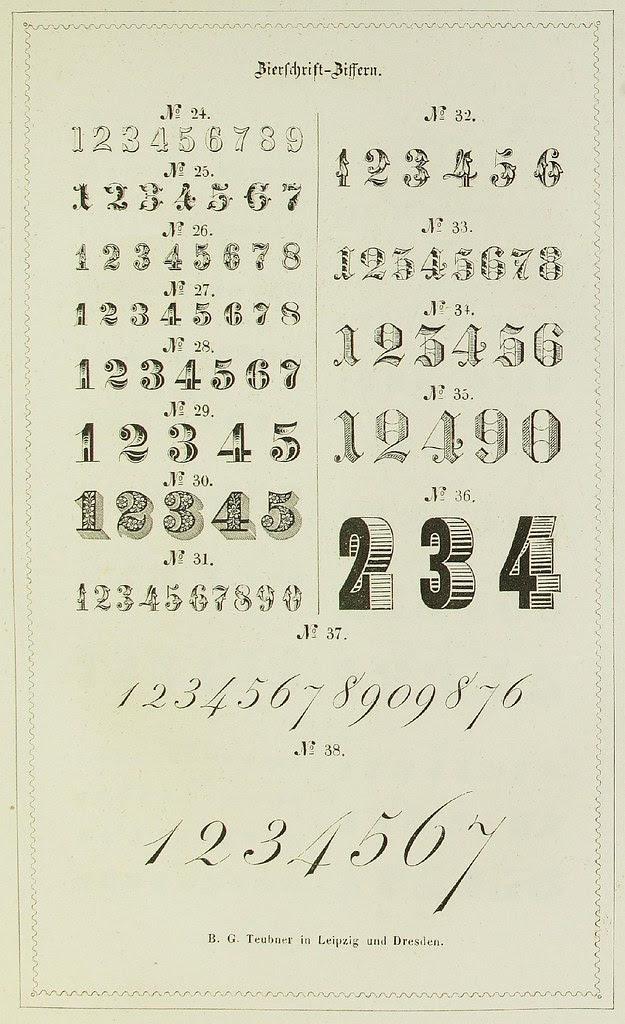Schrift- und Polytypen-Proben BG Teubner, 1846 e