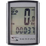 Serfas 9-Function Level 1+ Backlit Wired Cycling Computer - SI-15