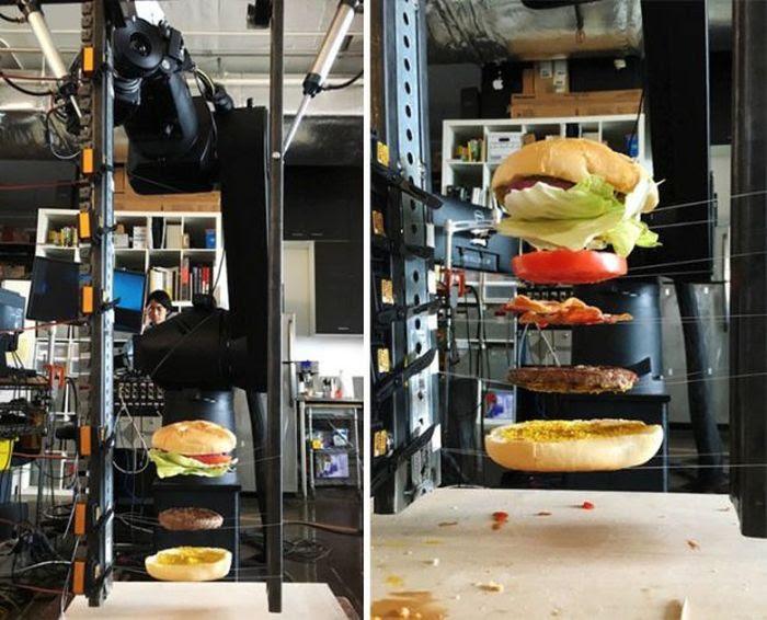 Um incrível comercial de hambúrguer feito sem efeitos especiais