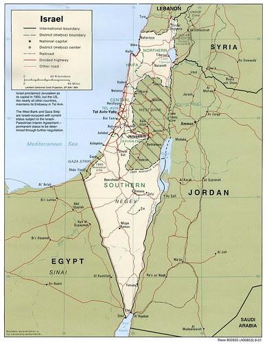 以色列地圖 Israel Map