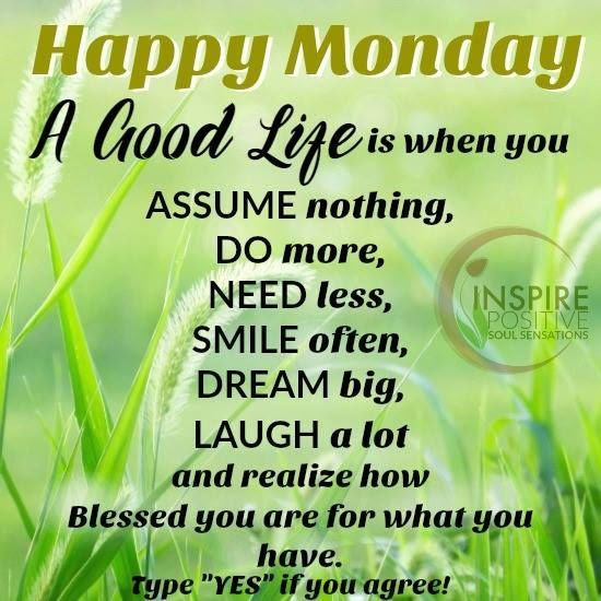 Happy Monday Quotes Good Night Quotes Happy Monday You Are Blessed