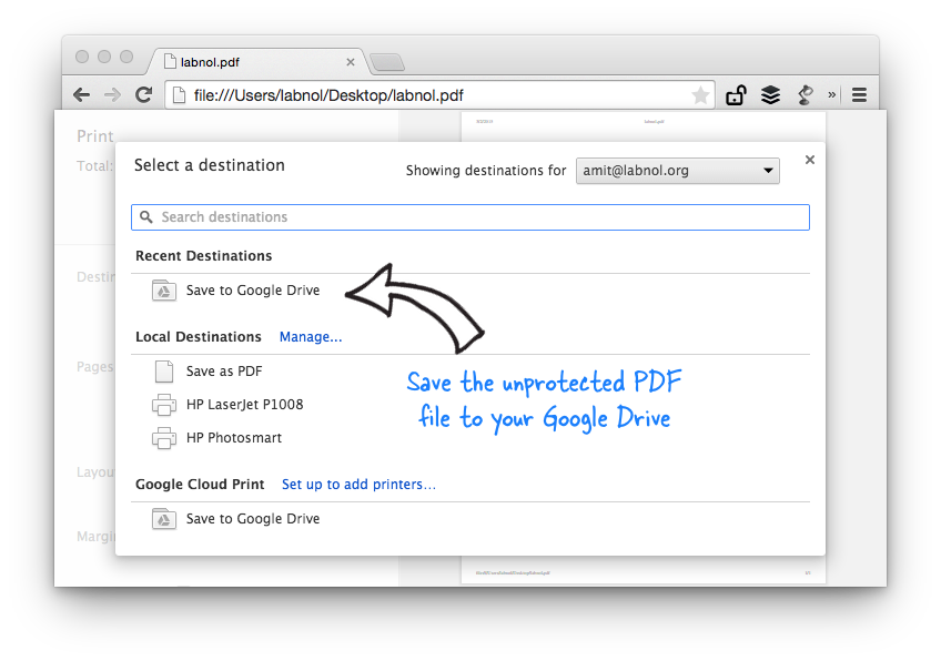 How to Remove Password from PDF Files with Google Chrome