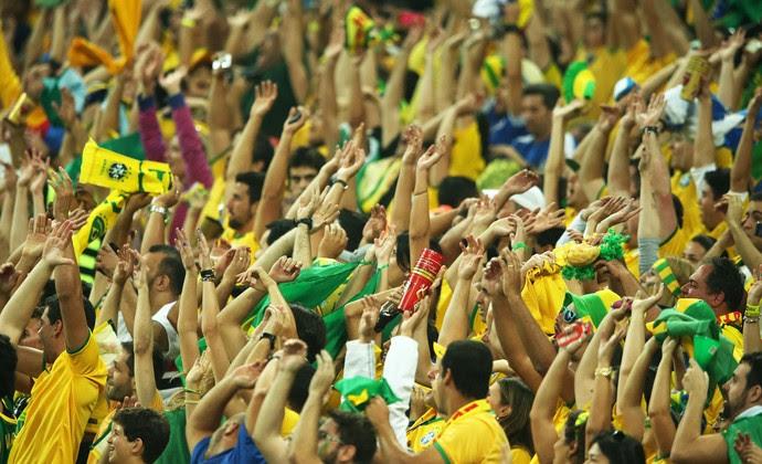 Torcida Brasil x Croácia Copa do Mundo (Foto: Marcos Ribolli)