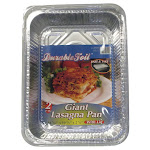Home Plus 6392138 10.62 x 14.43 in. Durable Foil Lasagna Pan with Lid