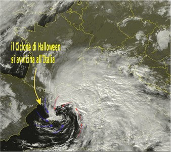 Il ciclone di Halloween pronto all'impatto