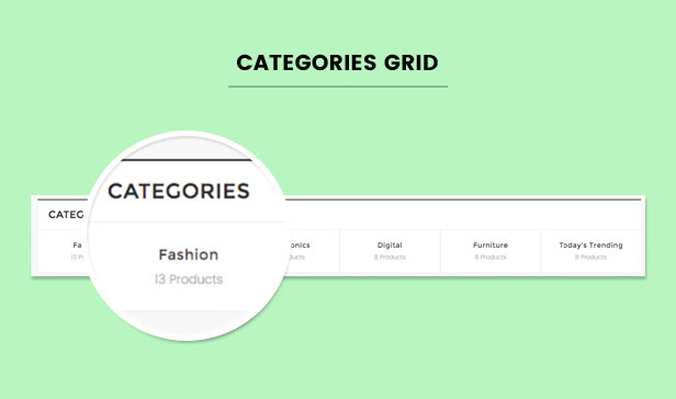 Categories list / grid