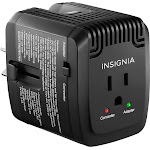 Insignia - All-in-One Travel Converter - Black, Size: One Size