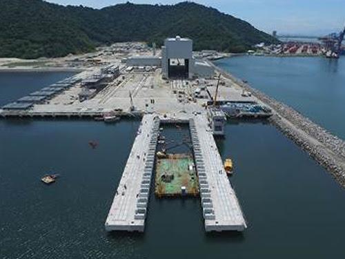 Estrutura do shiplift em construção