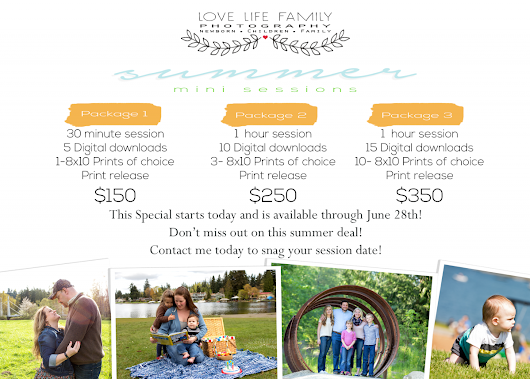 Seattle Family Photographer | Summer Mini Event!!