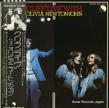 RICHARD, CLIFF & OLIVIA NEWTON-JOHN cliff live with olivia newton-john