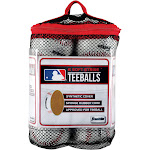 Franklin Sports MLB Soft Strike Teeballs 6-Pack, White