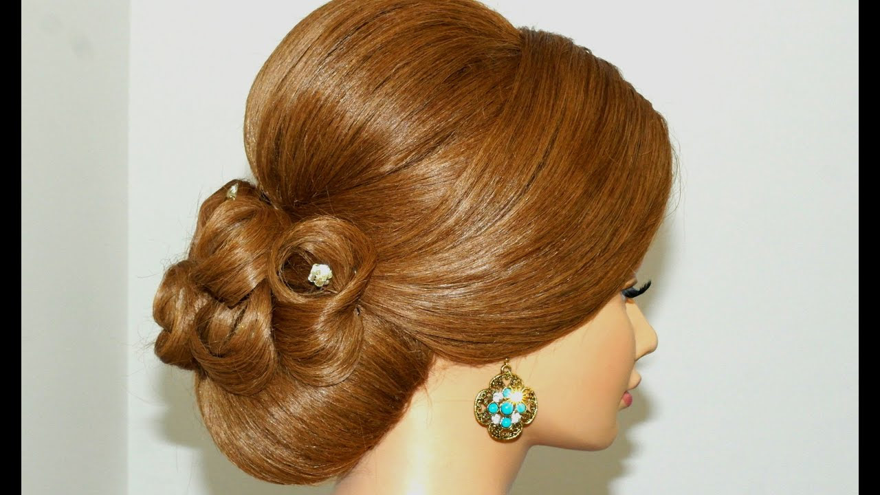 Updo hairstyles  Bridal wedding hairstyles  for long  hair