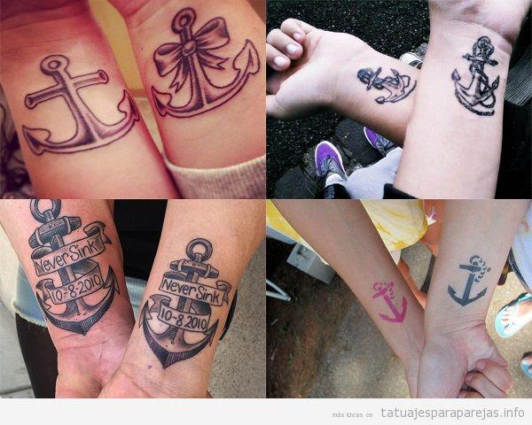 15 Tatuajes Para Parejas De Anclas Qué Significan Estos
