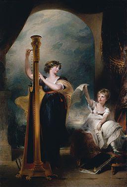 Princess Charlotte of Wales and_Duchess Caroline of Brunswick by Thomas Lawrence