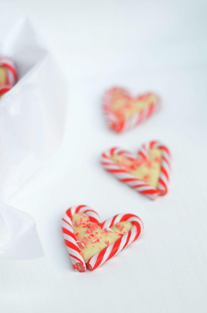 White Chocolate Candy Valentine Hearts