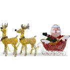 Santa with 2 Deer Sleigh