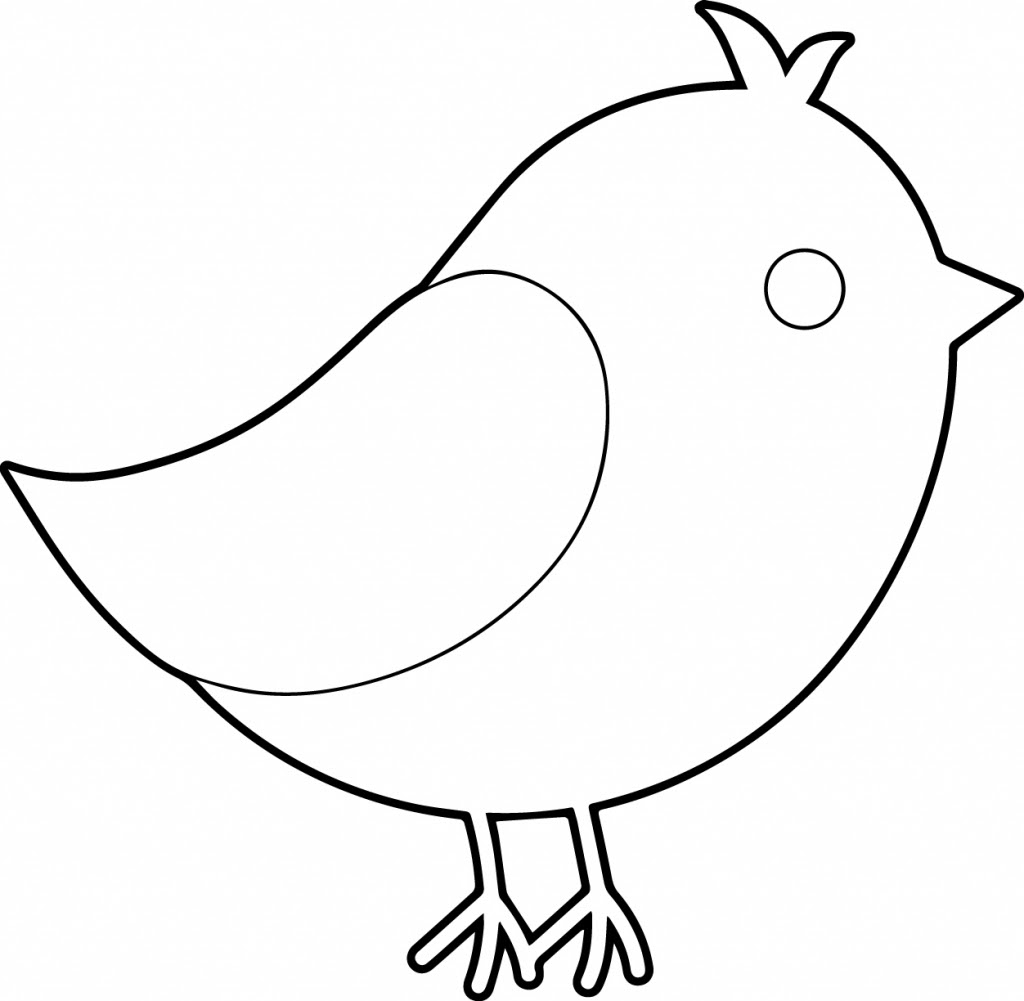 Simple Sparrow Drawing | Free download on ClipArtMag