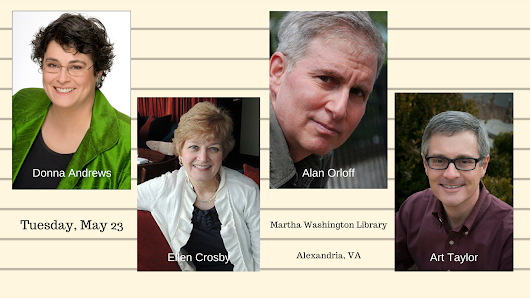 Tuesday, May 23: Mystery Writers Program, Alexandria, VA