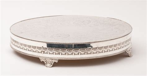 """Wedding Cake Stand   Round Base Silver Plate 16"""" [40.64 cm"""