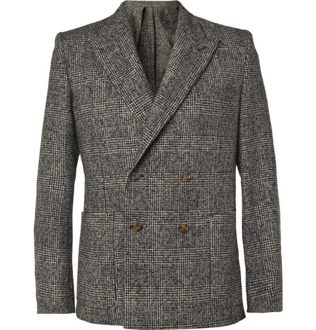 AMISlim-Fit Prince of Wales Check Wool-Blend Blazer
