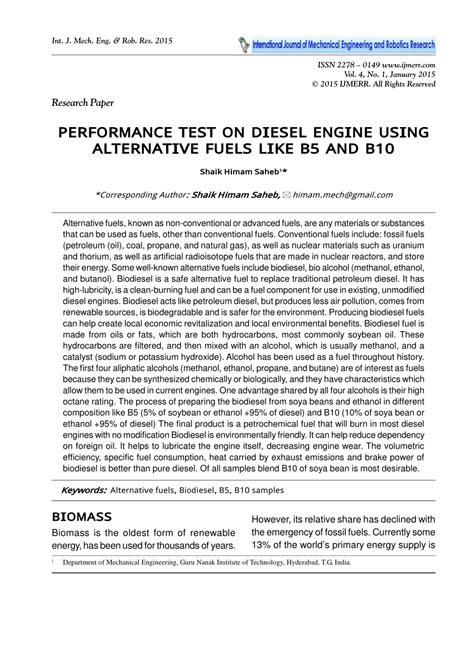 (PDF) PERFORMANCE TEST ON DIESEL ENGINE USING ALTERNATIVE