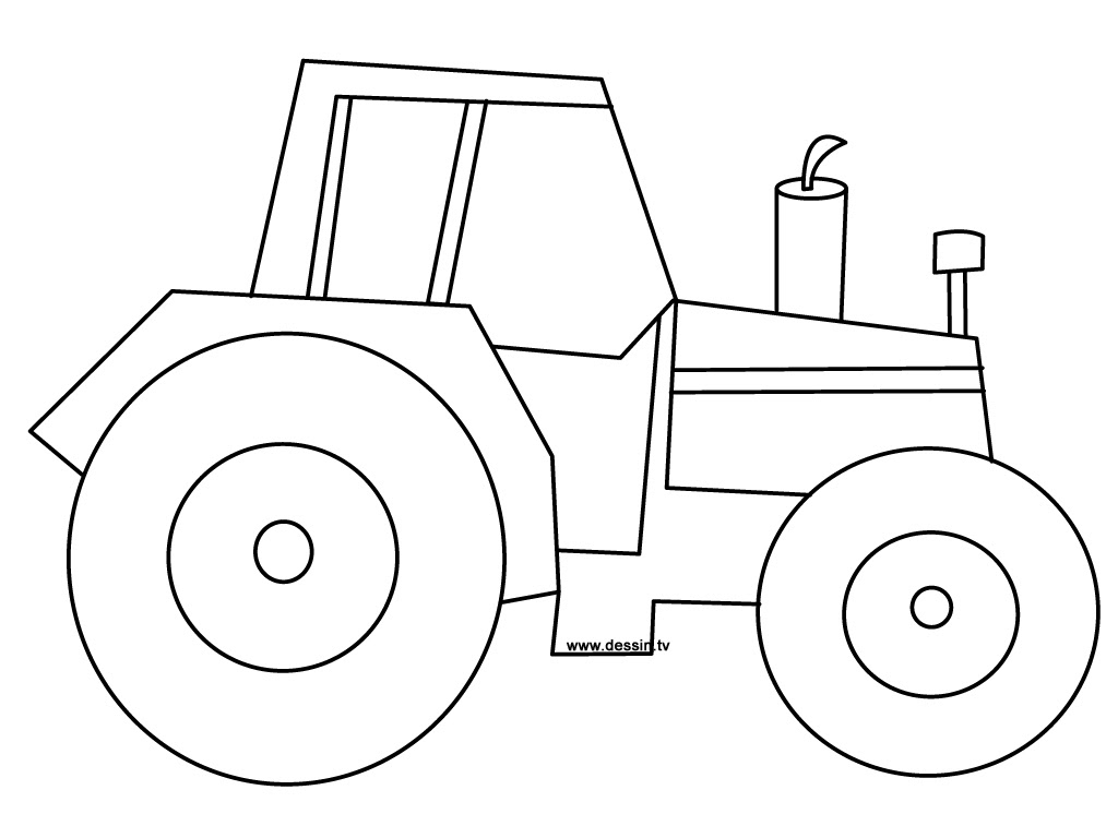 Image Coloriage tracteur gratuit