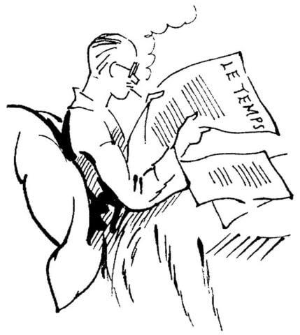 Dibujo De El Hombre Lee El Periódico Para Colorear Dibujos Para