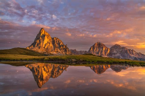 Sunrise at Passo di Giau by Alexander Lauterbach