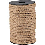5Mm Natural Jute Hemp Rope, Thick Twine String for Diy Crafts, Gift Packing, 100 Feet