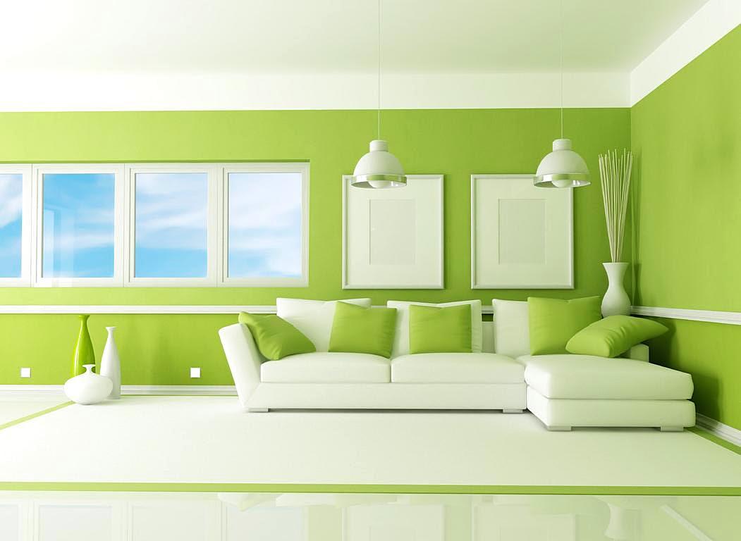 Warna Cat Dinding Ruang Tamu Yang Bagus Hijau