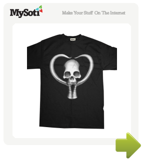 Crossbone Love tee by angryzenmaster. Available from MySoti.com.