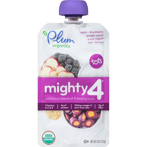 plum organics mighty 4 nutrition blend 4 oz pouch