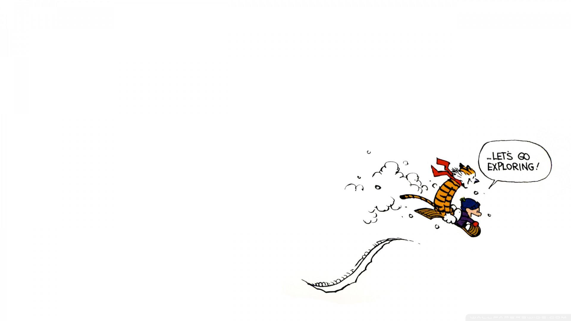 Calvin And Hobbes Exploring Ultra Hd Desktop Background Wallpaper