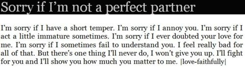 Sorry If Im Not A Perfect Partner Apology Quote Quotespicturescom