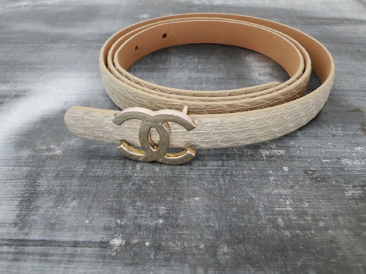 Chanel Snakeskin CC Buckle Belt | Jill's Consignment