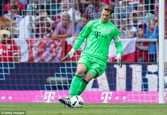 Manuel Neuer is the undisputed best goalkeeper in the world and he is the start of each attack