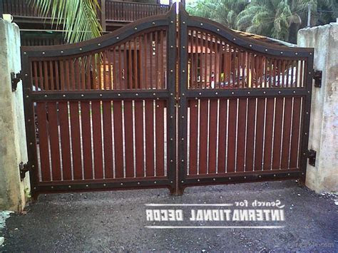 simple gate design  small house   steel idea