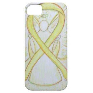 Yellow Awareness Ribbon Angel Custom iPhone Case iPhone 5 Covers