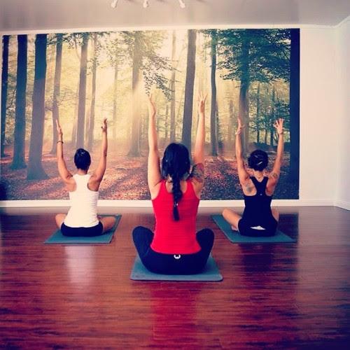 Hands to the sky #namastehighlandpark #nhp #yoga #strength