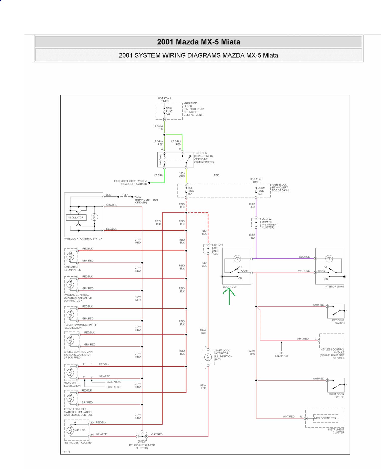 Wiring Diagram PDF: 2002 Miata Fuse Box