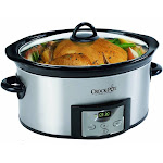 Crock-Pot 6-Quart Countdown Oval Slow Cooker with Dipper, Stainless Steel