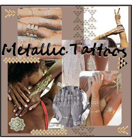 Entry #46 by silviadzi5s for Trend Board/ Collage for our Featured Trend- Metallic Tattoos | Freelancer