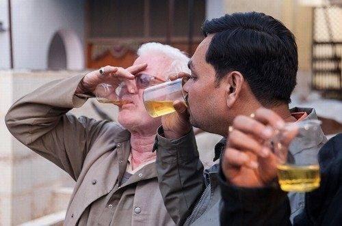 Indianos bebem urina de vaca (2)