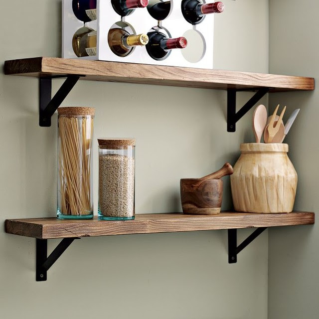 Salvaged Wood Shelf - traditional - wall shelves - by West Elm