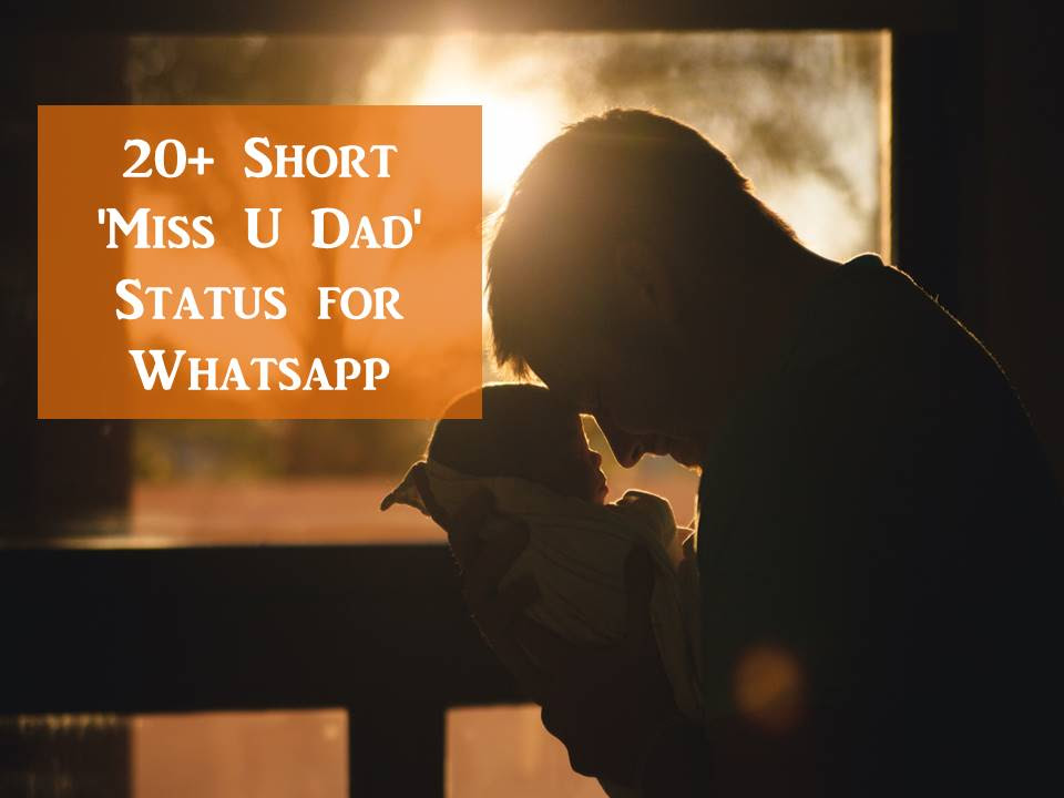 20 Short Miss U Dad Status For Whatsapp