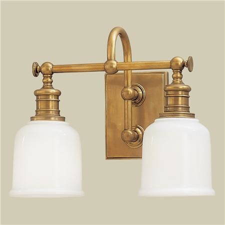 Well Appointed Bath Light, 2-Light - traditional - bathroom
