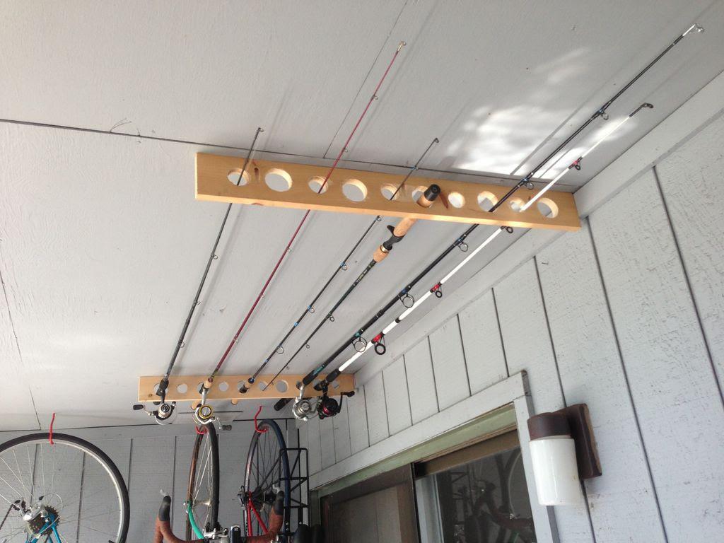 Fishing Pole Storage Idea