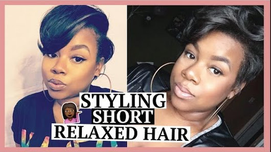 how to style my relaxed hair beautymavenraven 4825