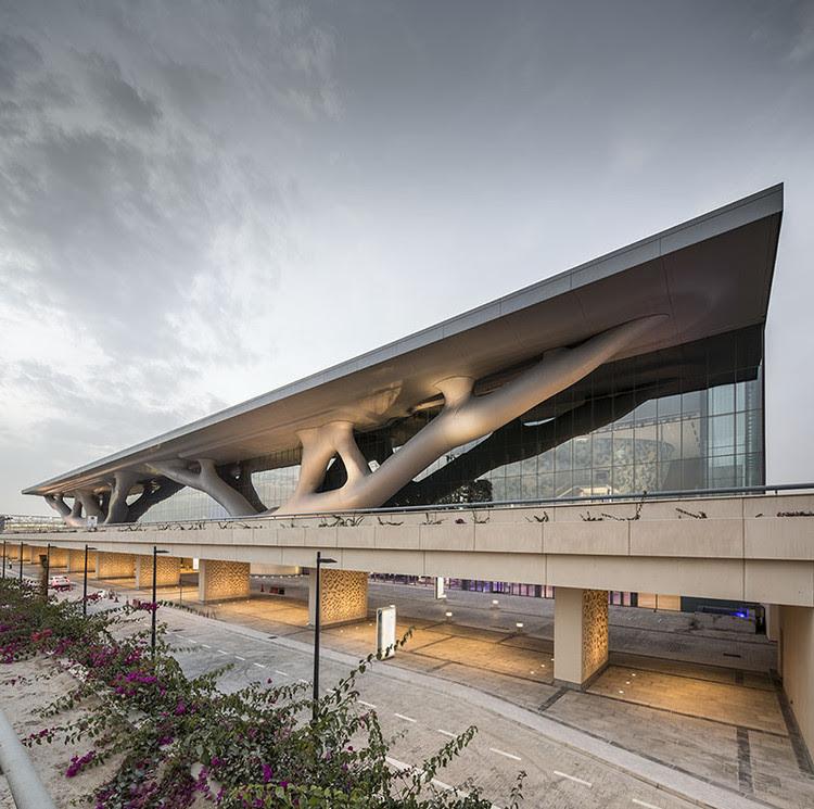 Centro Nacional de Convenções do Qatar. Imagem © Nelson Garrido
