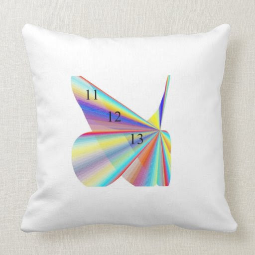 11/12/13 Rainbow Wings Throw Pillow